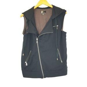 Kut From The Kloth Zipper Black Vest